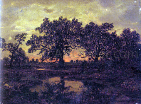 Theodore Rousseau Coucher de Soleil - Hand Painted Oil Painting