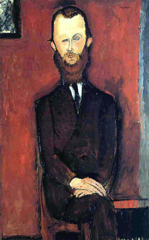 Amedeo Modigliani Count Weilhorski (also known as Portrait of Count W. - unfinished) - Hand Painted Oil Painting