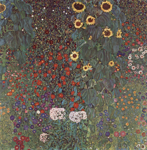 Gustav Klimt Farm Garden with Crucifix - Hand Painted Oil Painting