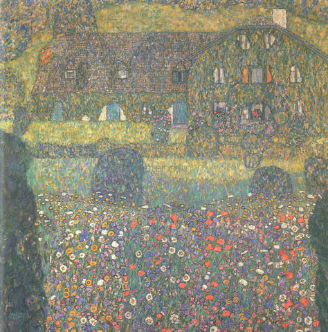 Gustav Klimt Country House by the Attersee - Hand Painted Oil Painting