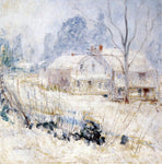 John Twachtman Country House in Winter, Cos Cob - Hand Painted Oil Painting