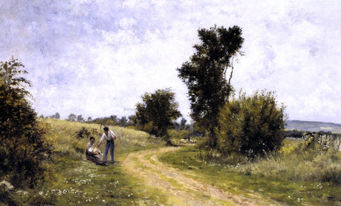 Stanislas Lepine Country Road - Hand Painted Oil Painting