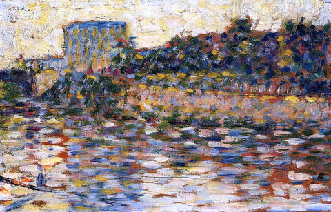 Georges Seurat Courbevoie, Landscape with Turret - Hand Painted Oil Painting