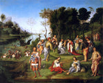 The Elder Lorenzo Costa Court of Isabella d'Este - Hand Painted Oil Painting