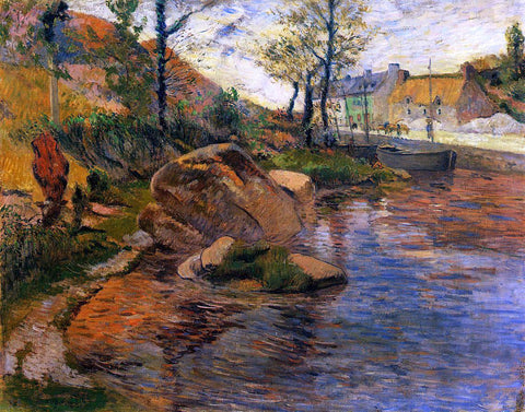Paul Gauguin A Cove Opposite Pont-Aven Harbor - Hand Painted Oil Painting