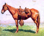 Frederic Remington A Cow Pony - Hand Painted Oil Painting