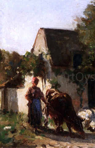 Jules-Adolphe Breton Cowheard - Hand Painted Oil Painting