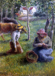 Camille Pissarro Cowherd - Hand Painted Oil Painting