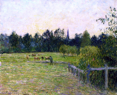 Camille Pissarro Cowherd in a Field at Eragny - Hand Painted Oil Painting