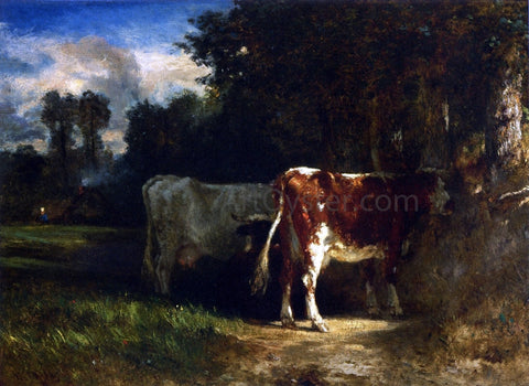 Constant Troyon Cows in a Landscape - Hand Painted Oil Painting