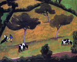 Roger De la Fresnaye Cows in a Meadow - Hand Painted Oil Painting