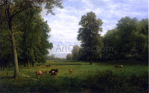 William Trost Richards Cows in a Pasture - Hand Painted Oil Painting