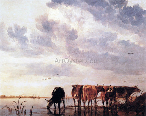 Aelbert Cuyp Cows in a River - Hand Painted Oil Painting