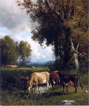 William M Hart Cows in the Meadow - Hand Painted Oil Painting