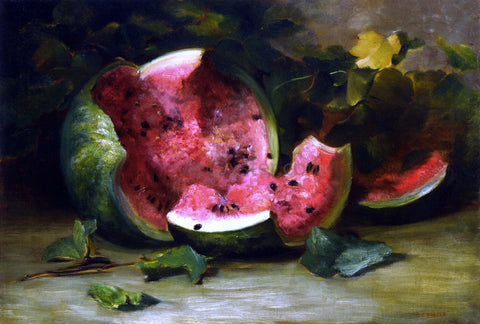 Charles Ethan Porter Cracked Watermelon - Hand Painted Oil Painting