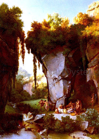 Lancelot Theodore Turpin Craggy Landscrape With Bacchanal - Hand Painted Oil Painting
