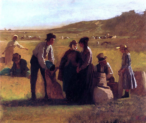 Eastman Johnson Cranberry Pickers - Hand Painted Oil Painting