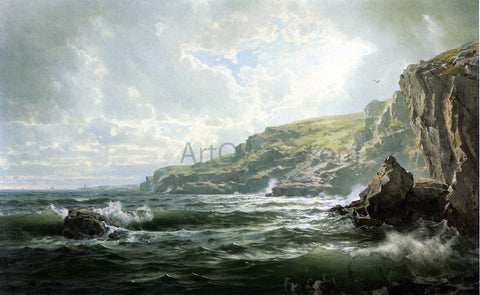 William Trost Richards Crashing Waves - Hand Painted Oil Painting