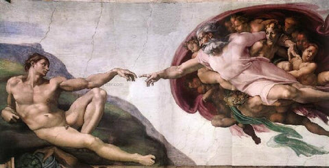 Michelangelo Buonarroti Creation of Adam - Hand Painted Oil Painting