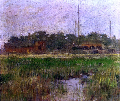Theodore Robinson Creek at Low Tide - Hand Painted Oil Painting