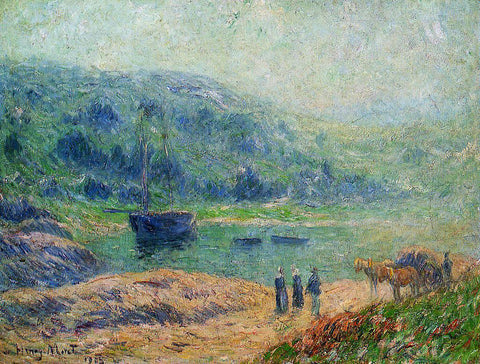 Henri Moret Creek in Brittany - Hand Painted Oil Painting