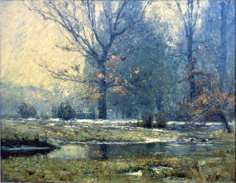 Theodore Clement Steele Creek in Winter - Hand Painted Oil Painting