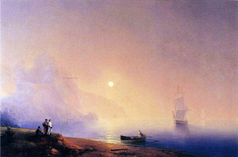 Ivan Constantinovich Aivazovsky Crimean Tartars on the Sea Shore - Hand Painted Oil Painting