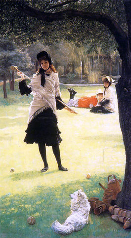 James Tissot Croquet - Hand Painted Oil Painting