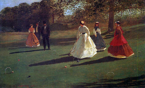 Winslow Homer Croquet Players - Hand Painted Oil Painting