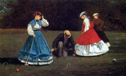 Winslow Homer Croquet Scene - Hand Painted Oil Painting