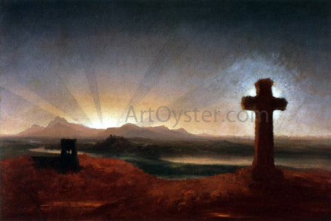 Thomas Cole Cross at Sunset - Hand Painted Oil Painting