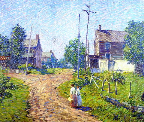 Robert Spencer Crossroad - Hand Painted Oil Painting