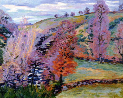 Armand Guillaumin A Crozant Landscape (also known as Grey Weather) - Hand Painted Oil Painting