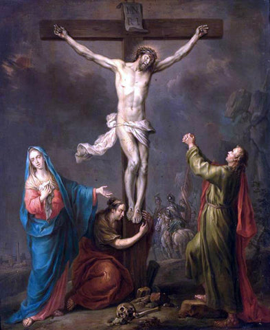 Franz Christoph Janneck Crucifixion - Hand Painted Oil Painting