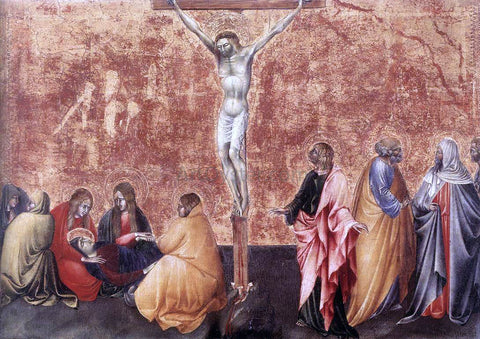 Giovanni Di Paolo Crucifixion - Hand Painted Oil Painting