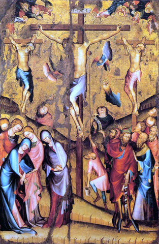 Unknown Painters Masters Crucifixion - Hand Painted Oil Painting