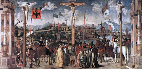 Michele Da Verona Crucifixion - Hand Painted Oil Painting