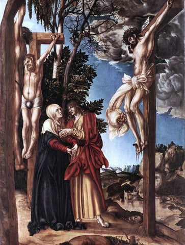 The Elder Lucas Cranach Crucifixion - Hand Painted Oil Painting