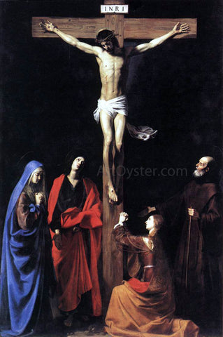 Nicolas Tournier Crucifixion - Hand Painted Oil Painting