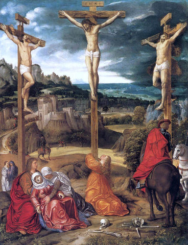 Giovanni Girolamo Savoldo Crucifixion - Hand Painted Oil Painting