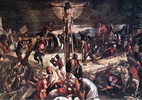 Jacopo Robusti Tintoretto Crucifixion [detail: 1] - Hand Painted Oil Painting