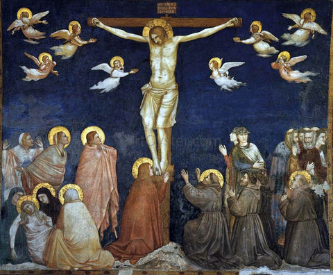Giotto Di Bondone Crucifixion (North transept, Lower Church, San Francesco, Assisi) - Hand Painted Oil Painting