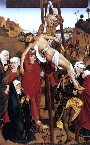 Hans Pleydenwurff Crucifixion of the Hof Altarpiece - Hand Painted Oil Painting