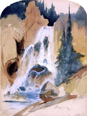 Thomas Moran Crystal Falls - Hand Painted Oil Painting