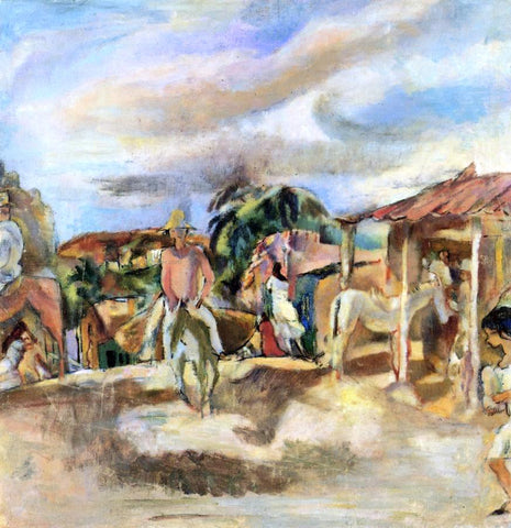 Jules Pascin Cuban Village - Hand Painted Oil Painting