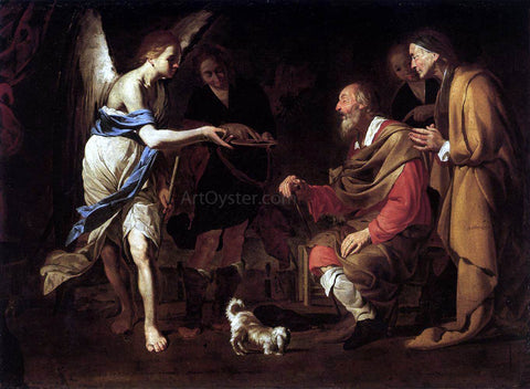 Bernardo Cavallino Curing of Tobias - Hand Painted Oil Painting