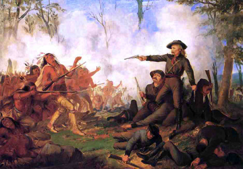 Thompkins Harrison Matteson Custer's Last Shot - Hand Painted Oil Painting