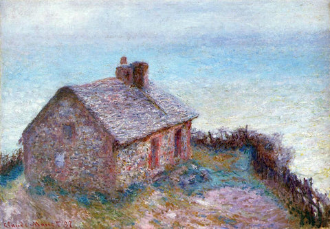 Claude Oscar Monet A Customs House at Varengaville - Hand Painted Oil Painting