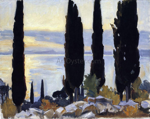 John Singer Sargent Cypress Trees at San Vigilio - Hand Painted Oil Painting