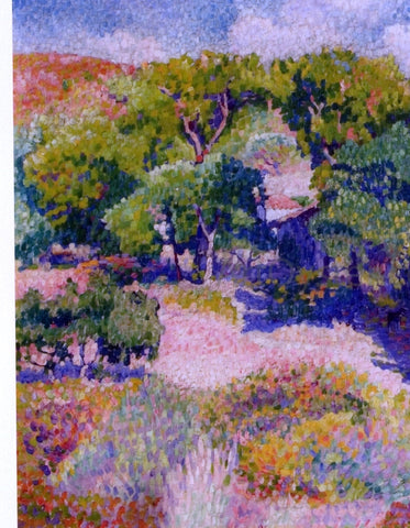 Henri Edmond Cross Cypresses - Hand Painted Oil Painting